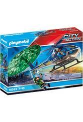Playmobil City Action Persecución en Paracaídas 70569