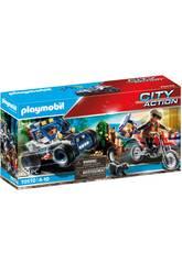 Playmobil City Action Vehículo Todoterreno Persecución del Ladrón de Tesosoros 70570