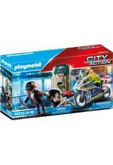 Playmobil City Action Mota Perseguição do Ladrão de Dinheiro 70572