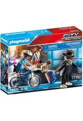 Playmobil bicicletta della polizia inseguimento Pickpocket 70573