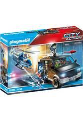 Playmobil City Action Helicóptero de Polícia Perseguição do Veículo Fugitivo 70575