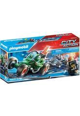 Playmobil City Action Kart Policier Poursuite Voleur de Coffre-fort 70577