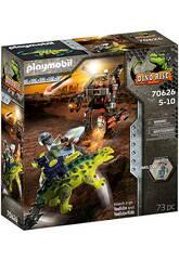 Playmobil Dinos Saichania Defensa del Luchador 70626