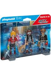 Playmobil City Action Set Figuras Ladrones 70670