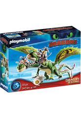 Playmobil Dragón Racing Dragón 2 Cabezas con Chusco y Brusca 70730