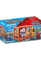Playmobil City Action Fabricante de Contenedores 70774