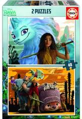 Puzzle 2X48 Raya & The Last Dragon Educa 18882