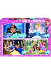 Puzzle Multi 4 50-80-100-150 Princesas Disney Educa 17637