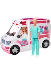 Barbie Veículo Cíinica de Cuidados Mattel GMG35