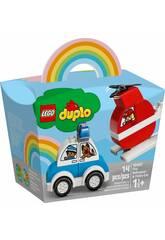 Lego Duplo Hélicoptère des pompiers et Voiture de Police 10957