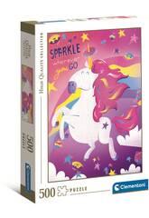 Puzzle 500 Unicornios Clementoni 35100