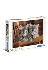 Puzzle 500 Gatitos Clementoni 30545