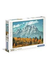 Puzzle 500 Grand Teton In Fall Clementoni 35034