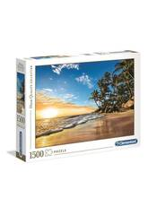 Puzzle 1500 Tropical Sunrise Clementoni 31681