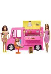 Barbie y Hermanas Vehículo Restaurante con Accesorios Mattel GWJ58