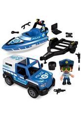 Pinypon Action Pick Up & Polizeiboot Famosa 700016265