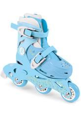 Patins à roulettes Tri-Skate 2 en 1 Bleus Pointure 27-30 par D'Arpèje OFUN084-G