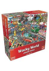Puzzle 1.000 Wacky World Carrera De Coches Goliath 918556