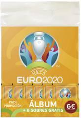 Euro 2020 Promopack Álbum mit 6 Umschlage Panini 9788427872257