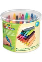 24 crayons de couleur lavables Crayola Jumbo 784