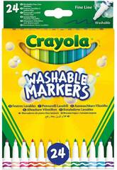 24 Crayola Super Washable Fine Point Pencils 58-6571