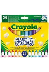 24 marqueurs Crayola Super Washable Maxi Point 58-6570