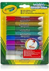 9 colles pailletées lavables Crayola 3527
