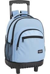 Mochila con Carro Compact Blackfit8 Blue Safta 641933818