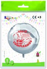 Palloncino rotondo in poliammide Palloncino di buon compleanno Globolandia 5473