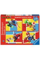 Super Mario Puzzle 4x100 Piezas Ravensburguer 5195