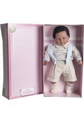 Muñeco Baby Dulzón Mulato 62 cm. Berbesa Blue Suit Baby Crybaby 8047