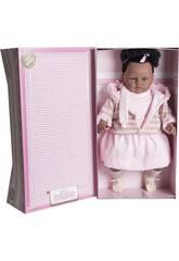 Poupée Mulata Baby Dulzona 62 cm. Llorona habillée en rose Berbesa 8048
