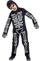 Costume enfant Bones Glow In Dark Taille L Rubies S8722-L