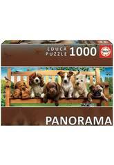 Casse-tête 1 000 chiens sur le banc Panorama Educa 19038