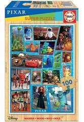 Casse-tête en bois 100 Disney Pixar Multiproperty Educa 18881