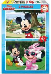 Puzzle 2x20 Mickey & Friends Educa 18884
