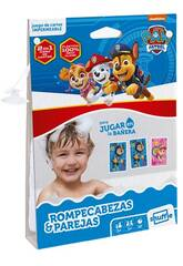 Carte per bambini Shuffle Aqua Paw Patrol Canina Puzzle e Coppi Fournier 130012515