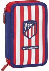 Plumier Doble Pequeño 28 Piezas Atlético de Madrid Safta 411958854