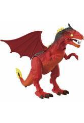 Dragón Andador 40 cm. Proyector y Movimientos Rojo