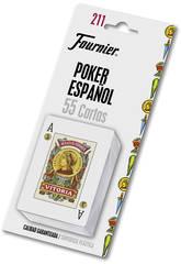 Spanisches Poker Spielkarten N.211 mit 54 Karten von Fournier 28546