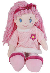 Muñeca de Trapo 45 cm. Rosa Flor