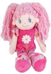 Muñeca de Trapo 45 cm. Coletas Rosa Flor