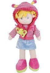 Bambola in tessuto 35 cm Cappuccio Farfalla