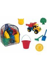 Zaino con camion e accessori spiaggia
