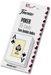 Englisches Poker-Spielkarten mit 54 Karten von Fournier 28545