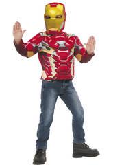 Iron Man Muskulöse Brust Kostüm Rubies 31720