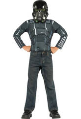 Disfraz StarWars Death Trooper con Máscara y Musculado T-M Rubies 31906