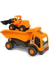Camion dumper e scavatrice giocattolo