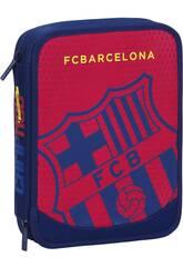 Plumier Double 56 Pièces F.C. Barcelone
