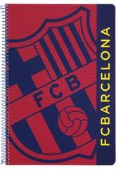 Cahier Feuilles Couverture Dure 80 p F.C Barcelone officiel